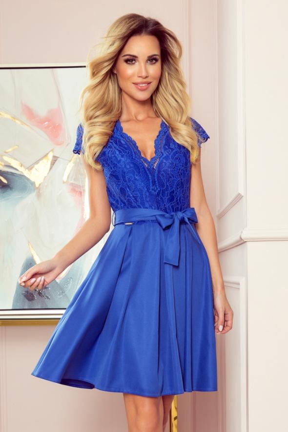 ANNA sukienka z dekoltem i koronką CHABROWA S M L XL