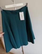 Butelkowa nowa spódnica z kieszeniami...