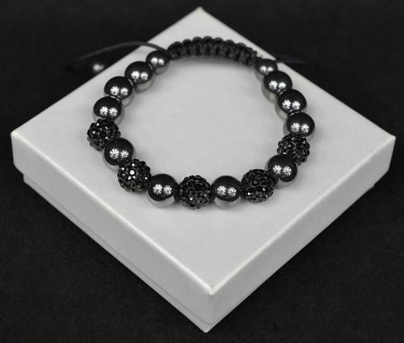 Elegancka czarna bransoletka nowa