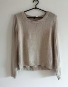 różowy sweter XS S M pudrowy róż nude H&M oversize boho glamour...