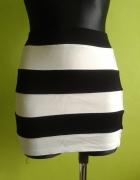 Spódniczka czarno biała H&M...