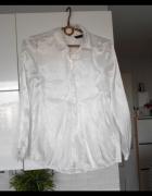 Zara satynowa biała koszula minimalizm...