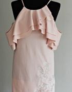 Piękna pudrowa sukienka nowa Mohito...