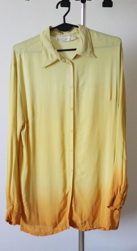 Asymetryczna koszula ombre
