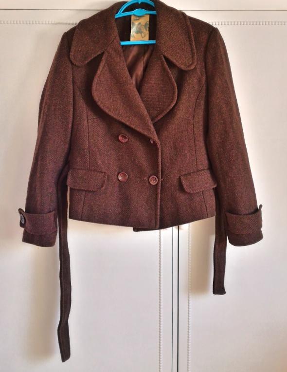 Płaszcz TROLL brązowy czekoladowy płaszczyk M 38 L...