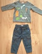 Nowy komplet dla chłopca spodnie bojówki i bluzka z długim ręka...