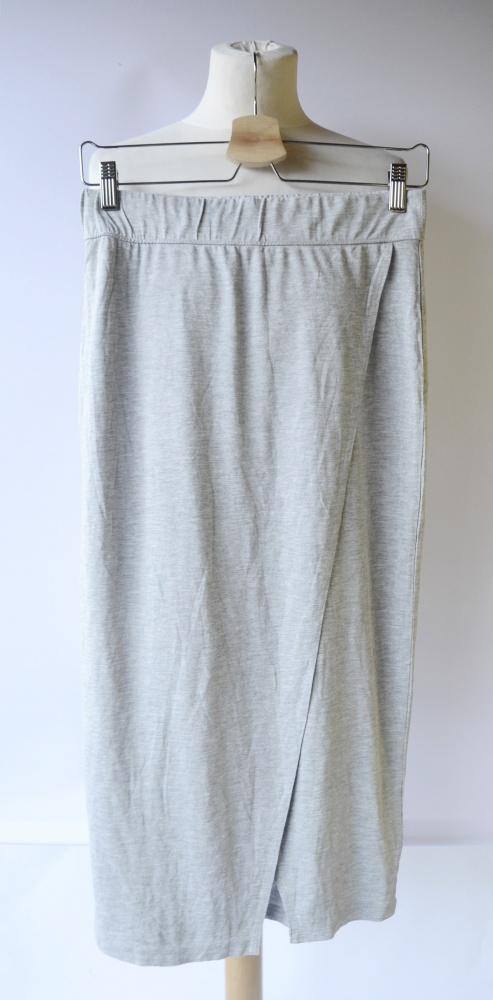 Spódnica Szara H&M Basic NOWA Kopertowa S 36 Dłuższa Spódniczka...