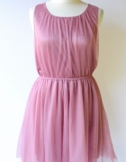 Sukienka Różowa H&M Divided Tiul XL 42 Róż Tiulowa...