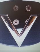 bransoletka skórzana szeroka czarna V