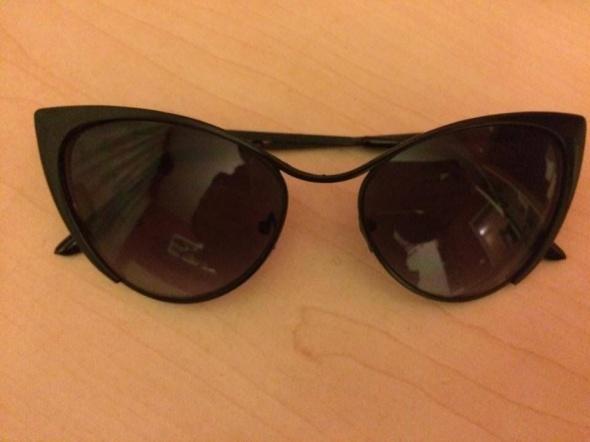 Czarne nowe kocie oczy okulary przeciwsłoneczne