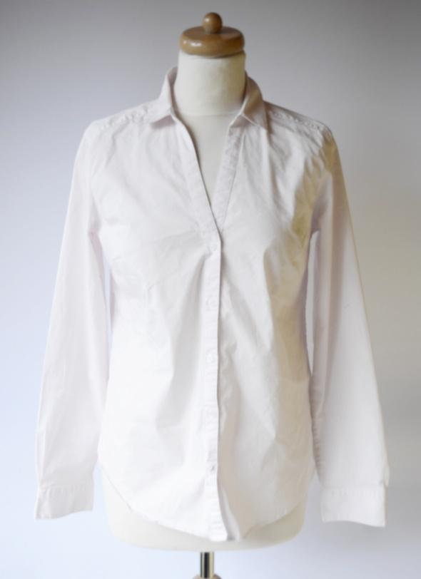 Koszule Koszula Purowy Róż H&M Paseczki Różowa XL 42 Elegancka