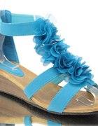 NOWE sandały kwiaty 41