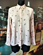 primark koszula mgiełka modny wzór motyle motylki nowa 36 S...