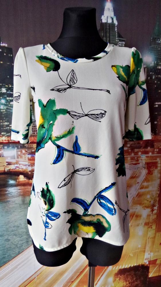 next bluzka ciekawa kwiaty liście modna 36 S...