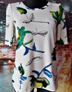 next bluzka ciekawa kwiaty liście modna 36 S