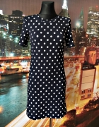 h&m sukienka modny wzór grochy groszki zip hit blog 34...