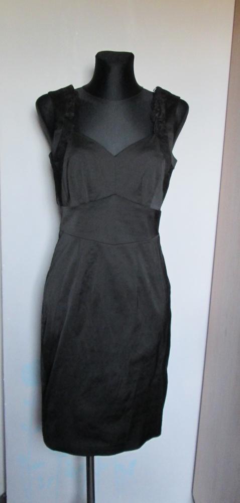 H&M cudna czarna sukienka ładne dekolty