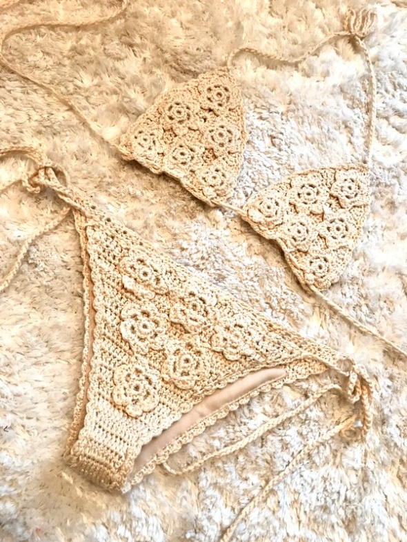 Szydełkowane bikini M regulowane nowe
