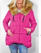Asymetryczna różowa kurtka