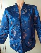 Marynarka dwustronna styl kimono niebieski złoty