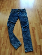 spodnie jeansy marmurki M...