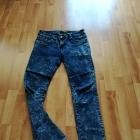 spodnie jeansy marmurki M