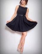 Czarna sukienka kontrafałdy rozkloszowana 42 XL...
