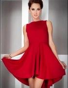 Asymetryczna CZERWONA sukienka XL 42