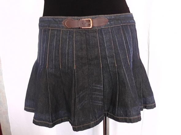 Spódnice spódnica dżinsowa plisowanka