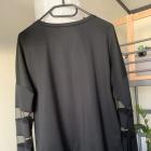 Bluza bluzka Cropp czarna siateczka