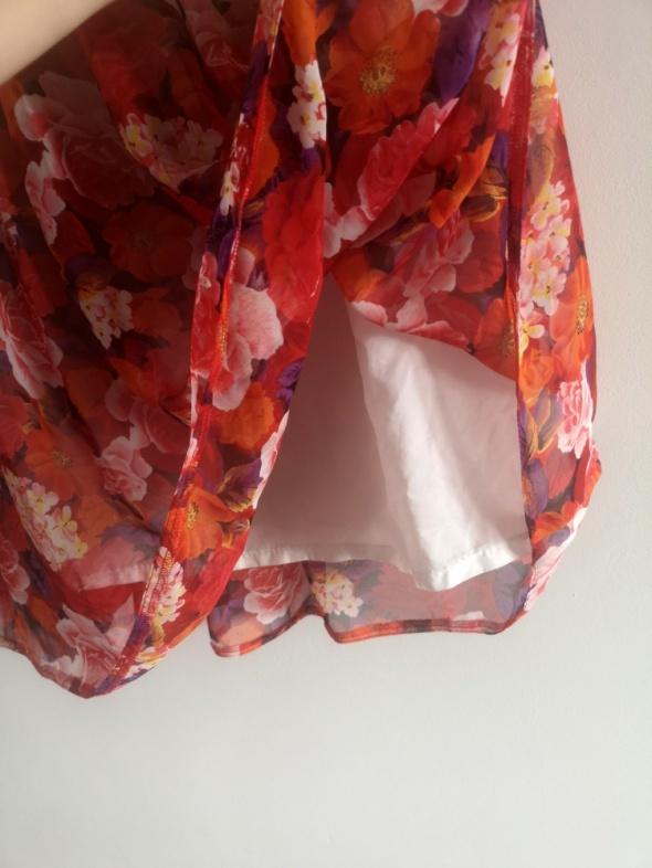 kwiatowa spódnica plisowana S M L XL kwiaty floral boho vint