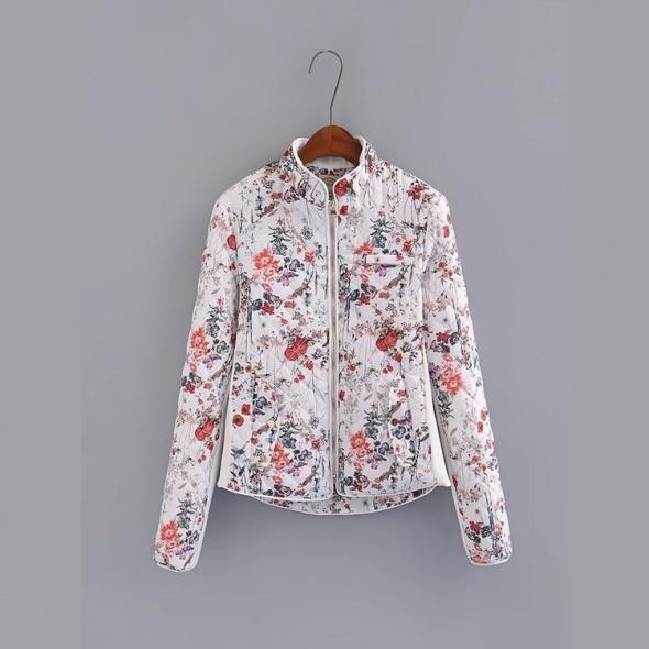 Odzież wierzchnia Zara kurtka kwiatki pikowana 38 M
