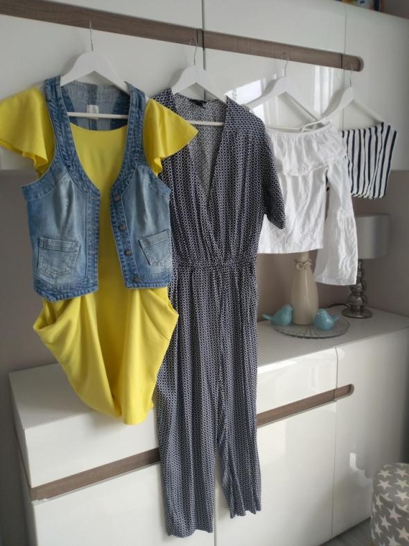 Zestaw r 36 sukienka kombinezon kamizelka jeansowa lato...