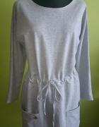 Dresowa sukienka melanż Makadamia...