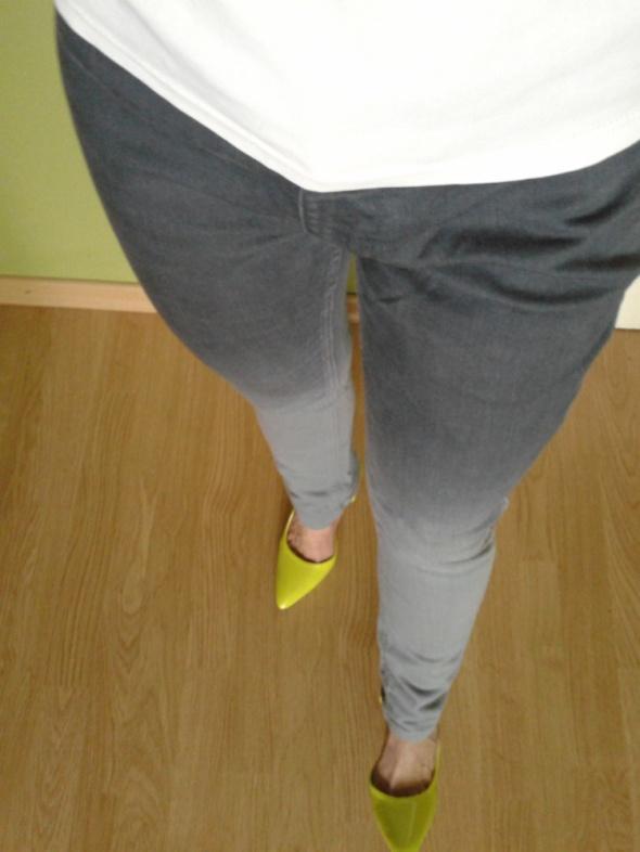 Spodnie Spodnie jeansowe skiny cieniowane szare Fransa
