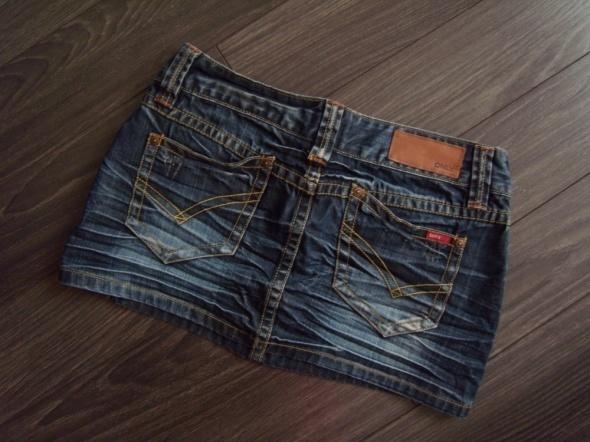 Spódnice Only genialna jeansowa minióweczka