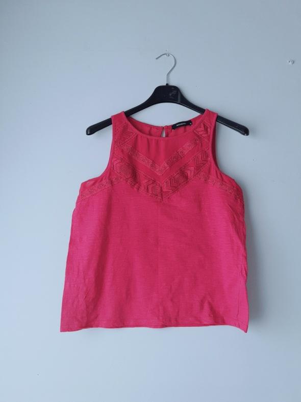 Fioletowa bluzka na ramiączka...