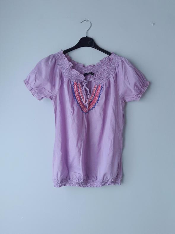 Fioletowa bluzka krótki rękaw M...