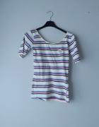 Kolorowa bluzka w paski xs...