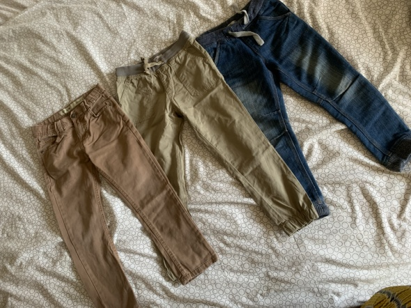 Spodnie i spodenki Spodnie jeans chłopiec 6 7 lat 122 cm