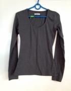 Bazowa grafitowa szara bluzka sweter S M L 36 38 40 długi rękaw...