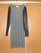Sukienka rękawy eco skóra 36 S Vero Moda...