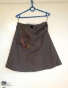 Top Secret rozkloszowana spódnica M 38 brązowa militarna kiesze...
