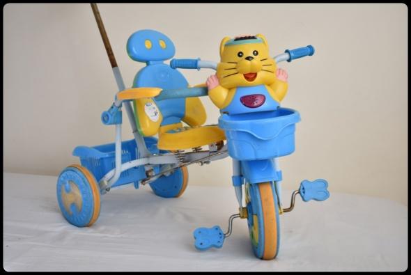 Zabawki Rowerek trójkołowy dla dzieci z prowadnikiem