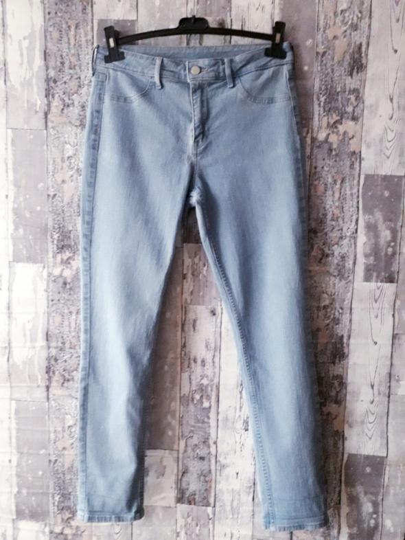 Spodnie H&M jeansy Skinny Ankle regular waist