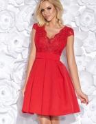 Urocza sukienka koronka 34 36 38 40 42 44 46 48 czerwona...