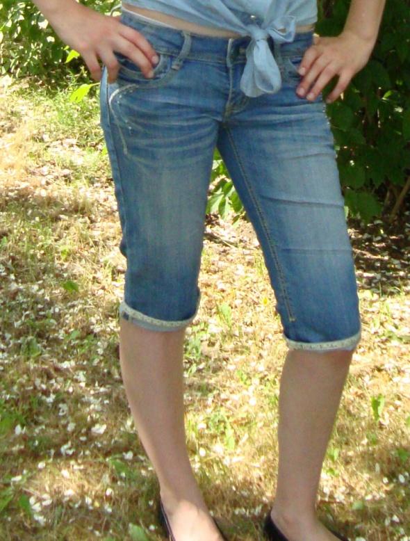 Spodenki Rybaczki jeansowe S M
