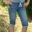 Rybaczki jeansowe S M
