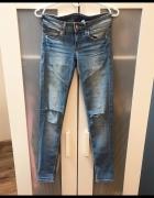 Spodnie jeans rurki biodrówki XS...