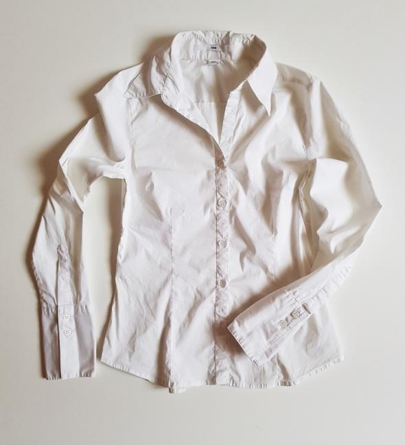 H&M bluzka koszulka biała elegancka do biura 36 S...